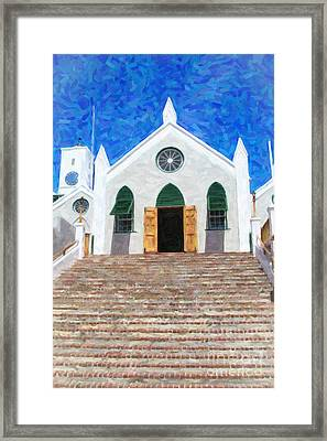 Framed Print featuring the photograph St. Peter's Church  by Verena Matthew
