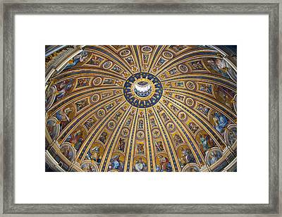 St. Peter's Cupola Framed Print