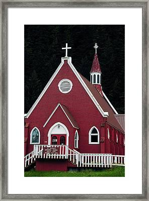 St Peter's Episcopal Church, Seward Framed Print by Michel Hersen