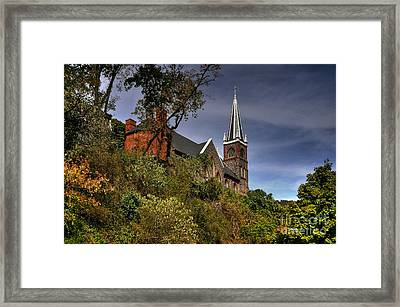 St. Peter's Of Harpers Ferry Framed Print by Lois Bryan