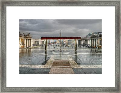 Framed Print featuring the photograph St. Peter's Square by Glenn DiPaola