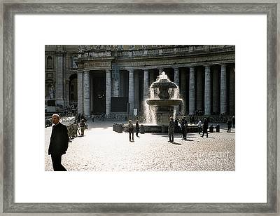 Fountain St. Peter's Square Framed Print