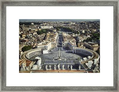 St Peter's Square Framed Print
