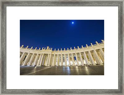 St. Peter_s Square, Vatican City_ Rome Framed Print