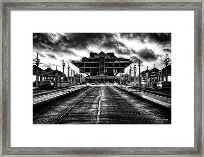 St Petersburg Pier In Monochrome Hdr Framed Print