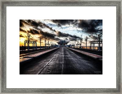 St. Petersburg Pier Sunrise  Framed Print