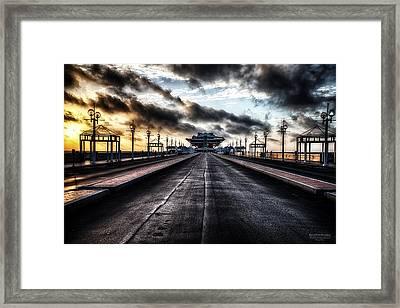 St. Petersburg Pier Sunrise  Framed Print by Michael White