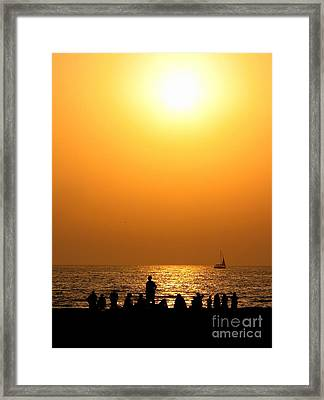 Framed Print featuring the photograph St. Petersburg Sunset by Peggy Hughes