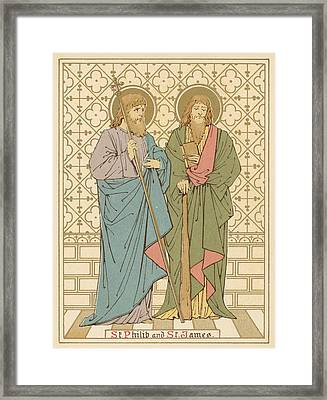 St Philip And St James Framed Print by English School