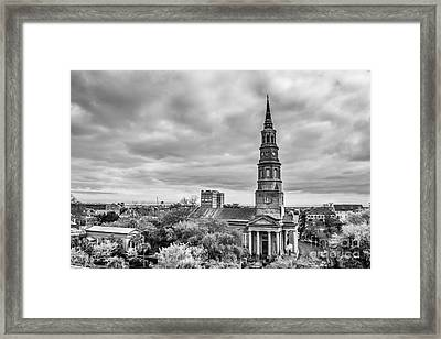 St. Philip's Church X Downtown Charleston Framed Print by Philip Jr Photography