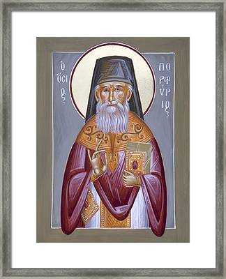 St Porphyrios The Kavsokalyvitis Framed Print by Julia Bridget Hayes