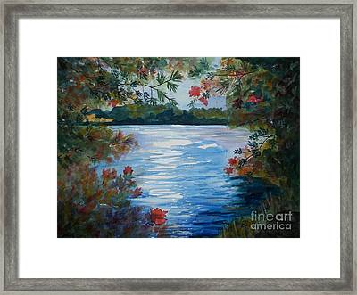 St. Regis Lake Framed Print by Ellen Levinson