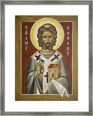 St Robert Framed Print by Julia Bridget Hayes