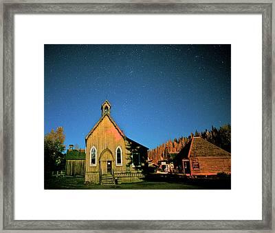 St Savior's Church Under A Summer Night Framed Print by Richard Wright