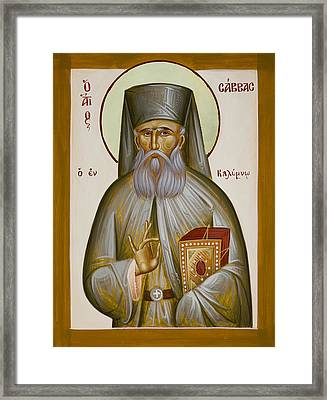 St Savvas Of Kalymnos Framed Print by Julia Bridget Hayes