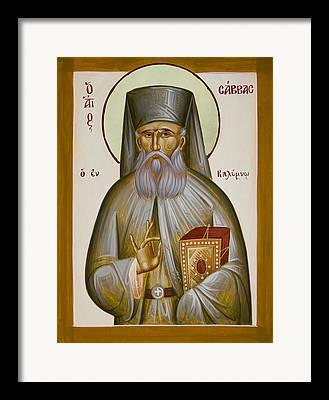 St Savvas Of Kalymnos Framed Prints