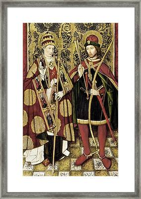 St Sebastian And St Fabian . Ca. 1475 - Framed Print by Everett