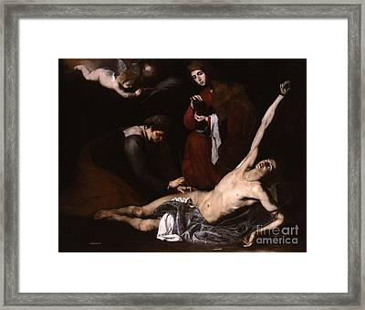 St Sebastian Cured By The Holy Women Framed Print