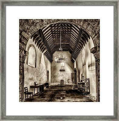 St Seirio Church Framed Print by Adrian Evans