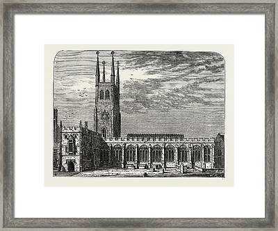 St. Sepulchres Church In 1737 Framed Print by Litz Collection