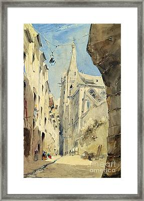 St. Severin Paris Framed Print by James Holland