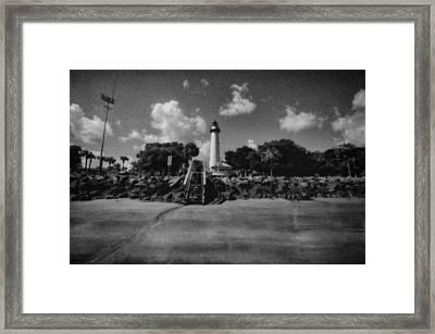 St Simmon's Lighthouse 2 Framed Print by J Riley Johnson
