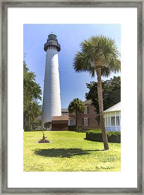 St. Simmons Lighthouse Framed Print