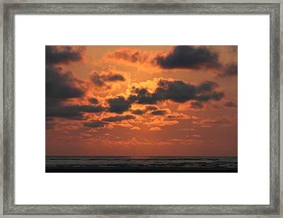 St Simons And Sea Island Sunrise Framed Print