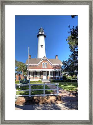 Framed Print featuring the photograph St. Simons Island Light Station by Gordon Elwell