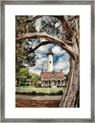 St. Simons Island Lighthouse  Framed Print