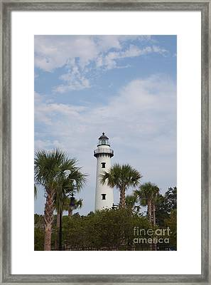 St. Simons Island Lighthouse Framed Print by Kay Pickens