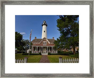 St. Simons Light Framed Print
