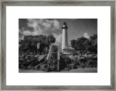 St. Simon's Lighthouse 3 Framed Print