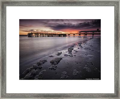 St. Simons Pier At Sunset Framed Print