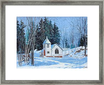 St. Stephen's Anglican Church Bedford Mills Framed Print by Jim Janeway