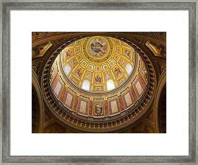 St. Stephen's Basilica Ceiling Framed Print by Dave Bowman