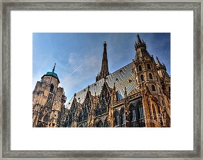 Framed Print featuring the photograph St. Stephen's Cathedral by Joe  Ng