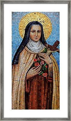 St. Theresa Mosaic Framed Print