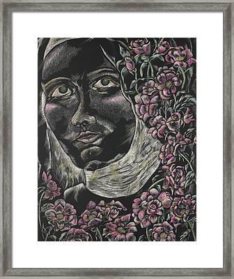 St Therese Of Lisieux Framed Print by Michelle Miller