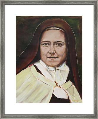 St. Therese Of Lisieux Framed Print by Sheila Diemert