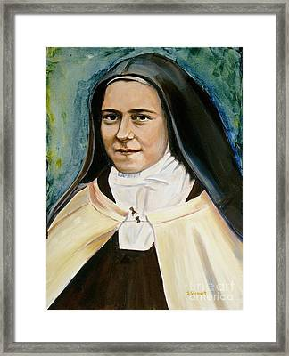 St. Therese Framed Print by Sheila Diemert