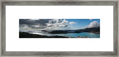 St. Thomas Bay Framed Print