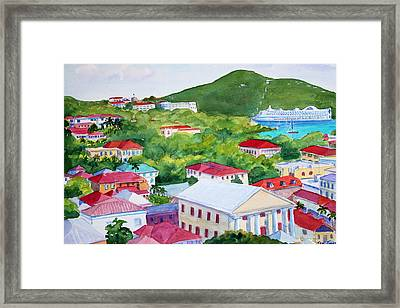 St. Thomas View Framed Print by Teri  Jones