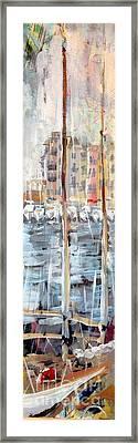 St Tropez Harbour Framed Print by Chris Irwin Walker