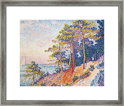 St Tropez The Custom's Path Framed Print