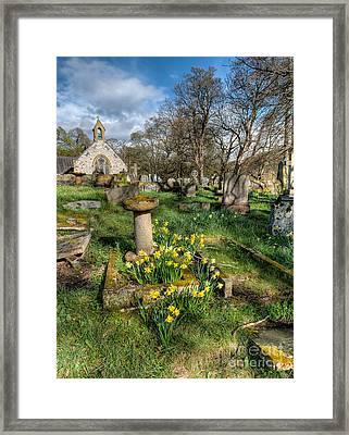 St Tysilio Graveyard Framed Print by Adrian Evans