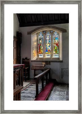 St Tysilio Window  Framed Print by Adrian Evans