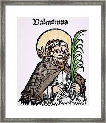 St. Valentine (3rd Century) Framed Print by Granger