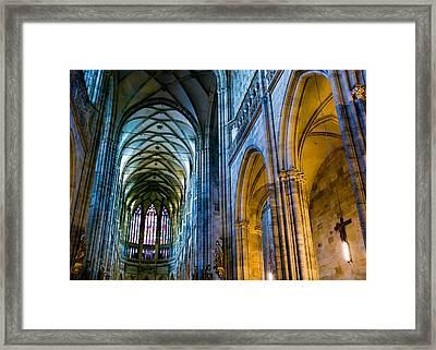 St Vitus Cathedral Framed Print by Dave Bowman