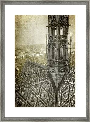 St Vitus Cathedral South Tower View Framed Print by Joan Carroll
